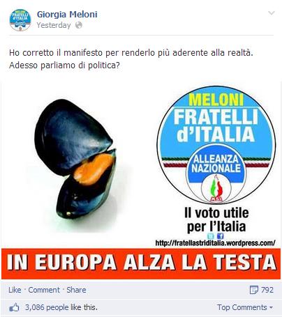 Manifesto Europee - Cozza