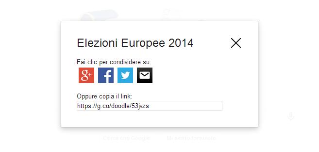 Tasto di condivisione Google Doodle - Elezioni Europee