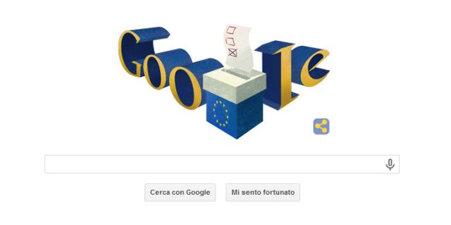 Google Doodle - Elezioni europee 2014