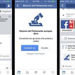 "Facebook - Pulsante ""sono un elettore"""