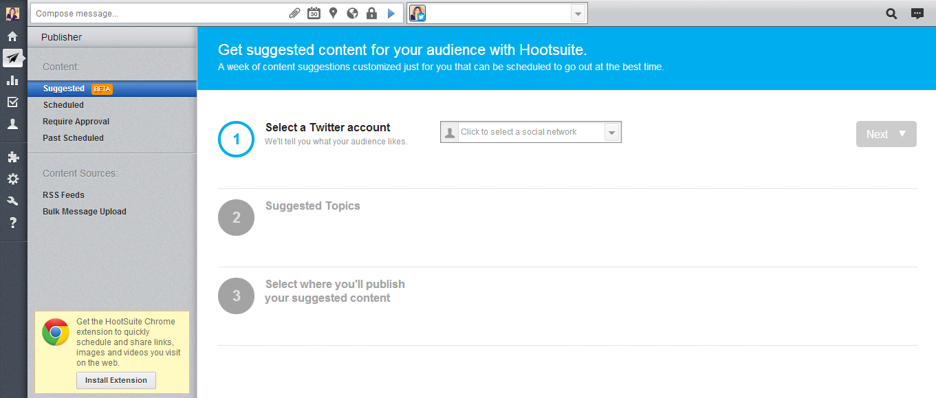Hootsuite - Suggested Content Publishing Tool
