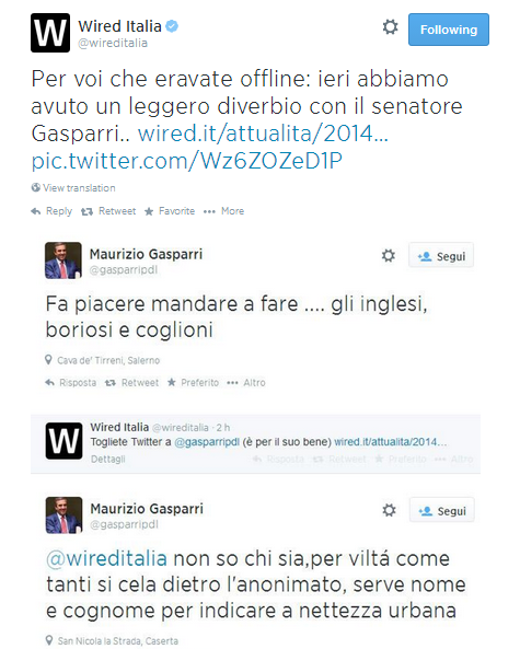 I tweet di Gasparri